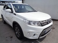 USED 2016 16 SUZUKI VITARA 1.6 SZ4 5 door 118 BHP white £204 A MONTH  ALLOY WHEELS CLIMATE CONTROL 2 KEYS SUPPLIED WITH SERVICE AND MOT