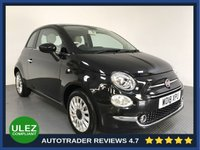 USED 2018 18 FIAT 500 1.2 LOUNGE 3d 69 BHP FULL HISTORY - 1 OWNER - AIR CON - BLUETOOTH - DAB RADIO - CRUISE - 15' ALLOYS - AUX / USB