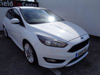 USED 2015 15 FORD FOCUS 1.0 ZETEC S 5 door  124 BHP white Alloy Wheels  Full Dealer Service History Privacy Glass Air con Only £20 Road Tax