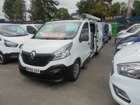 2015 RENAULT TRAFIC 1.6 LL29 BUSINESS DCI S/R P/V 115 BHP FITTED WITH AIR CON  RHINO ROOF RACK LADDER  POLE SHUTT  IN SIDE STEEL SHELVES + PIPE VICE  £6995.00