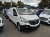 USED 2015 65 RENAULT TRAFIC 1.6 LL29 BUSINESS DCI S/R P/V 115 BHP FITTED WITH AIR CON  RHINO ROOF RACK LADDER  POLE SHUTT  IN SIDE STEEL SHELVES + PIPE VICE  BUSINESS CLASS DIESEL RHINO ROOF RACK LADDER POLE SHUT  STEEL SHELVES AIR CON