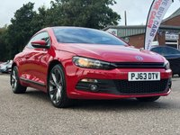 USED 2013 63 VOLKSWAGEN SCIROCCO 2.0 GT TDI BLUEMOTION TECHNOLOGY 2d 140 BHP NAVIGATION SYSTEM +   FULL LEATHER +  18 INCH ALLOYS +   PARKING AID +  FULL SERVICE RECORD +  FULL YEAR MOT +
