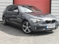 2015 BMW 1 SERIES 2.0 118D SPORT 5d 141 BHP £9995.00