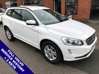 """USED 2016 16 VOLVO XC60 2.4 D4 SE NAV AWD 5DOOR 187 BHP DAB Radio   :   Sat Nav   :   USB & AUX   :   Automatic Headlights   :   Car Hotspot / WiFi      Cruise Control   :   Phone Bluetooth Connectivity   :   Climate Control / Air Conditioning      Auto Tailgate   :   Rear Parking Sensors   :   17"""" Alloy Wheels   :   Full Volvo Service History"""