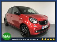 USED 2017 67 SMART FORFOUR 0.0 ELECTRIC DRIVE PRIME PREMIUM PLUS 5d AUTO 81 BHP FULL SMART HISTORY - 1 OWNER - ELECTRIC - PAN ROOF - SAT NAV - REAR SENSORS - PARKING CAMERA - LEATHER