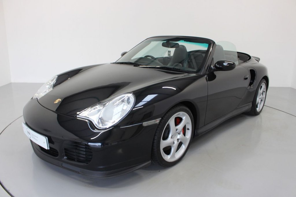 USED 2004 04 PORSCHE 911 3.6 996 TURBO 2d 420 BHP CONVERTIBLE- RARE 6 SPEED MANUAL,-FULL PORSCHE SERVICE HISTORY AT 5K 7K 14K 15K 19K 25K AND 28K-BLACK LEATHER-IMMACULATE LOW MILEAGE EXAMPLE-SAFE INVESTMENT