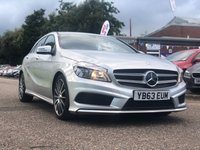 USED 2013 63 MERCEDES-BENZ A CLASS 1.8 A180 CDI BLUEEFFICIENCY AMG SPORT 5d AUTO 109 BHP SERVICE RECORD +    HALF LEATHER +   18 INCH ALLOYS +
