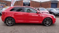 USED 2009 09 AUDI A3 2.0 TDI S LINE SPECIAL EDITION 3d 138 BHP PRIVACY GLASS *  18 INCH ALLOYS *   SERVICE REC *  FULL YEAR MOT *  CLIMATE CONTROL *