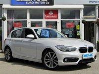 2015 BMW 1 SERIES 1.5 116D SPORT 5d 114 BHP £7695.00
