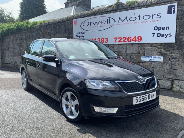 USED 2016 66 SKODA RAPID 1.2 SPACEBACK SE TECH TSI 5d 89 BHP 1 OWNER+FINANCE AVAILABLE+SERVICE HISTORY+SATELLITE NAVIGATION+CRUISE CONTROL