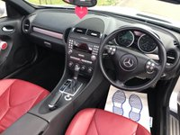 USED 2006 06 MERCEDES-BENZ SLK 3.5 SLK350 AUTO 269 BHP 2DR CONVERTIBLE 2 OWNERS+ DUSK RED LEATHER+ 8 STAMPS XENONS