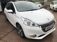 USED 2012 62 PEUGEOT 208 1.6 FELINE 5d 120 BHP **LOW MILEAGE**LONG MOT**FULL SERVICE HISTORY**