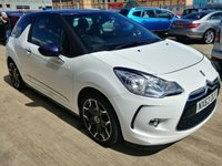 USED 2013 63 CITROEN DS3 1.6 DSTYLE PLUS 3d MOT SERVICE WARRANTY