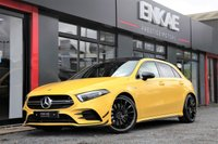 "USED 2019 19 MERCEDES-BENZ A CLASS 2.0 AMG A 35 4MATIC PREMIUM PLUS 5d AUTO 302 BHP SUN-BEAM YELLOW*PAN ROOF*HEADS UP DISPLAY*SPORT +*VAT QUALIFYING*AERO PACK*PRIVACY GLASS*MBUX TALK TO ME MERCEDES*FRONT CAMERA*REAR CAMERA*HALF LEATHER*HALF ALCANTARA*PREMIUM PLUS*BERMIESTER SOUND SYSTEM*19"" BLACK STYLING ALLOYS*FOLDING MIRRORS*ELECTRIC MIRRORS*ADAPTIVE CRUISE CONTROL*LANE ASSIST*ONE OWNER FROM NEW*POPSAND BANGS*PHONE PREP*DAB RADIO*MULTI-FUNCTIONAL STEERING*"