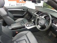 USED 2012 62 AUDI A5 CABRIOLET 3.0 TDI S LINE 2d AUTO 242 BHP BLACK LEATHER, S LINE, POWER HOOD