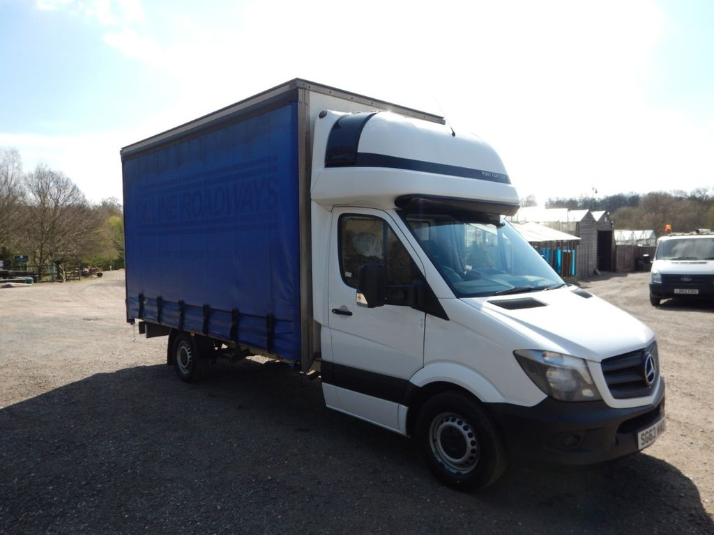 USED 2014 63 MERCEDES-BENZ SPRINTER 2.1 316 CDI LWB 1d 163 BHP CURTAINSIDER