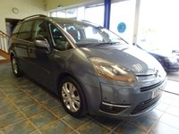 USED 2007 56 CITROEN C4 GRAND PICASSO 2.0 EXCLUSIVE HDI EGS 5d AUTO 135 BHP DVD PLAYER WITH REAR SCREENS!!