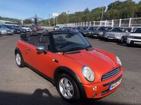 USED 2004 04 MINI CONVERTIBLE 1.6 ONE 2d 89 BHP Hot Orange Met with Black 1/2 leather sports seats, power convertible roof