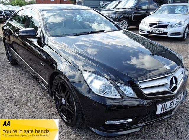 USED 2011 MERCEDES-BENZ E CLASS 2.1 E220 CDI BLUEEFFICIENCY SPORT ED125 2d AUTO 170 BHP MERCEDES DIGITAL SERVICE HISTORY BLACK LEATHER & GLOSS BLACK ALLOYS