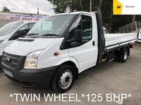 USED 2012 62 FORD TRANSIT Dropside 2.2 350 Twin Wheel 124 BHP 6 Speed*FFSH*