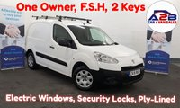 2015 PEUGEOT PARTNER 1.6 HDI S  850 90 BHP One owner , FSH, Security Locks, Roof Ladder Bars, Fully Ply-lined,  £4980.00