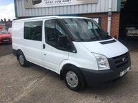 2011 FORD TRANSIT 2.2 280 SWB FACTORY FITTED 6 SEAT CREW VAN 80K MILES £6495.00