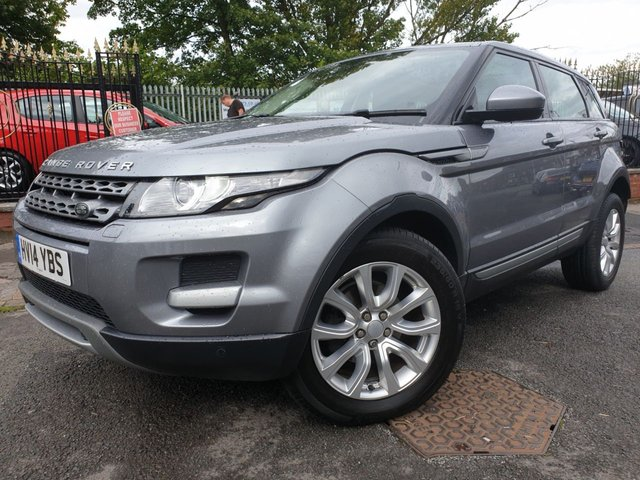 USED 2014 14 LAND ROVER RANGE ROVER EVOQUE 2.2 SD4 PURE TECH 5d AUTO 190 BHP 18ALLOYS+CLIMATE+PARKING+CLEANCAR+2KEYS+NAV+LEATHER+PANROOF+AUX+
