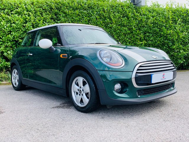 USED 2014 14 MINI HATCH COOPER 1.5 COOPER D 3d 114 BHP This is a British legend and probably the most iconic car ever. It is in the original British Racing Green with white roof and door mirrors and to add to the originality it has the John Cooper White Bonnet Stripes and 15 Inch Alloys which make it look magnificent. We had to do a double take when we looked at the economy figures on this diesel engine which not only moves swiftly but gives you ZERO Tax and will return up to a staggering 91.1 Mpg