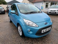 USED 2009 09 FORD KA 1.2 ZETEC 3d 69 BHP ONE YEAR WARRANTY INCLUDED / COMPREHENSIVE SERVICE HISTORY