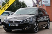 USED 2017 17 PEUGEOT 308 1.6 BLUE HDI S/S GT LINE 5d 120 BHP SATELLITE NAVIGATION, REVERSING CAMERA + FINANCE AVAILABLE