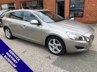 USED 2012 12 VOLVO V60 2.4 D5 SE LUX 5DOOR AUTO 212 BHP DAB Radio   :   Satellite Navigation   :   USB & AUX   :   Cruise Control / Speed Limiter      Bluetooth Connectivity   :   Climate Control / Air Con   :   Electrically Adjustable Sunroof     Heated Front Seats   :   Electric Driver Seat   :   Rear Parking Sensors   :   Service History