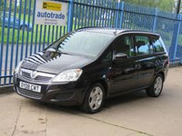 2008 VAUXHALL ZAFIRA 1.6 EXCLUSIV 5dr 7 Seater Air conditioning £2795.00