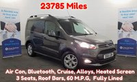 2016 FORD TRANSIT CONNECT 1.6 200 LIMITED 115 BHP LOW MILEAGE 23781 Miles, Air Con, Cruise Control, Bluetooth, Roof Bars, Heated Screes/Drivers Seat, Alloys, Front Fogs and more.... £10680.00