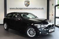 """USED 2013 62 BMW 1 SERIES 1.6 116D EFFICIENTDYNAMICS 3DR 114 BHP excellent service history  Finished in a stunning black styled with 16"""". Upon opening the drivers door you are presented with wonderfully maintained anthracite upholstery, excellent service history, bluetooth, fog lights, usb interface"""