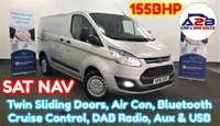 2015 FORD TRANSIT CUSTOM 2.2 TDCi 330 TREND 155 BHP in Silver with High Spec Including SATNAV, Twin Sliding Doors, Air Conditioning, Bluetooth, Cruise Control, DAB Radio and more £10980.00