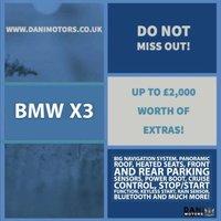 USED 2013 63 BMW X3 2.0 20d M Sport xDrive 5dr 1 OWNER*SATNAV*PAN ROOF*