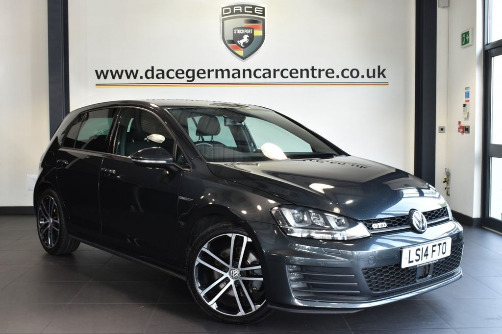 """USED 2014 14 VOLKSWAGEN GOLF 2.0 GTD DSG 5DR AUTO 182 BHP full service history  *NO ADMIN FEES* FINISHED IN STUNNING GREY WITH SPORT UPHOLSTERY + FULL SERVICE HISTORY + SATELLITE NAVIGATION + BLUETOOTH + XENON LIGHTS + DAB RADIO + DYNAUDIO SURROUND SOUND + CRUISE CONTROL + PARKING SENSORS + AIR CONDITIONING + AUX/USB MEDIA + 18"""" ALLOY WHEELS"""