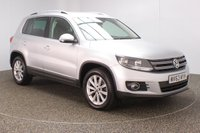 USED 2013 63 VOLKSWAGEN TIGUAN 2.0 SE TDI BLUEMOTION TECHNOLOGY 4MOTION 5DR 138 BHP FULL SERVICE HISTORY + PARKING SENSOR + BLUETOOTH + CLIMATE CONTROL + MULTI FUNCTION WHEEL + ELECTRIC WINDOWS + ELECTRIC MIRRORS + 18 INCH ALLOY WHEELS