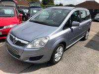 USED 2010 10 VAUXHALL ZAFIRA 1.8 EXCLUSIV 5d 140 BHP GREAT VALUE SEVEN SEATER, SUPPLIED WITH A  NEW MOT