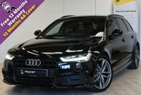 USED 2016 66 AUDI A6 2.0 AVANT TDI ULTRA BLACK EDITION 5d AUTO 188 BHP BLACK PACK, BOSE, PADDLESHIFT, CRUISE, SAT NAV, F AND R PARKING AID, ELEC FOLDING MIRRORS, FULL HEATED LEATHER, MEMORY DRIVERS SEAT