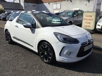 USED 2015 14 CITROEN DS3 1.6 BLUEHDI DSPORT PLUS 3d 120 BHP ABSOLUTELY STUNNING CITROEN DS3 IN WHITE WITH CHEQUERED ROOF !