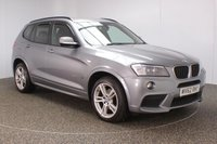 USED 2012 62 BMW X3 2.0 XDRIVE20D M SPORT 5DR HEATED LEATHER SEATS 181 BHP BMW SERVICE HISTORY + HEATED LEATHER SEATS + PARKING SENSOR + BLUETOOTH + CRUISE CONTROL + CLIMATE CONTROL + MULTI FUNCTION WHEEL + XENON HEADLIGHTS + DAB RADIO + ELECTRIC/MEMORY SEATS + XENON HEADLIGHTS + ELECTRIC WINDOWS + ELECTRIC MIRRORS + 19 INCH ALLOY WHEELS