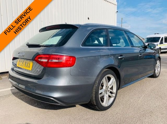 USED 2015 15 AUDI A4 2.0 AVANT TDI S LINE NAV 5d AUTO 187 BHP SATELLITE NAVIGATION - MOT MAY 2020 - FULL SERVICE HISTORY - FRONT & REAR PARK SENSORS - HEATED LEATHER S-LINE SPORT SEATS - DAB RADIO - ONLY 1 PREVIOUS OWNER