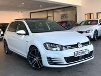 USED 2016 16 VOLKSWAGEN GOLF 2.0 GTD DSG 5d AUTO 182 BHP PAN ROOF+LEATHER+SAT NAV+FSH