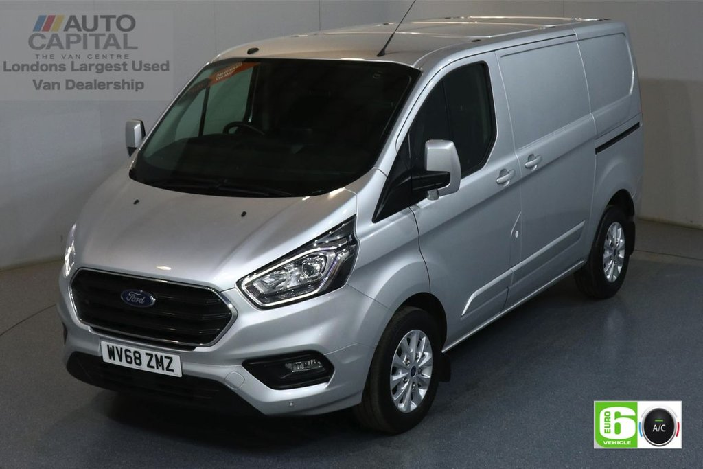 USED 2018 68 FORD TRANSIT CUSTOM 2.0 300 LIMITED L1 H1 129 BHP EURO 6 ENGINE AIR CON, FRONT-REAR PARKING SENSORS, ALLOY WHEEL