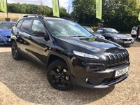 2016 JEEP CHEROKEE 2.2 M-JET II NIGHT EAGLE 5d AUTO 197 BHP £17500.00