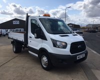 2017 FORD TRANSIT 350 ONE STOP SHOP SINGLE CAB TIPPER  DRW VAN WITH AIRCON  £16495.00