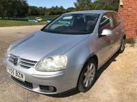 USED 2005 55 VOLKSWAGEN GOLF 2.0 GT TDI 3d 138 BHP MOT 11/19 GREY WITH CLOTH TRIM. 16 INCH ALLOYS. COLOUR CODED TRIMS. R/CD PLAYER. 6 SPEED MANUAL. MOT 11/19. AGE/MILEAGE RELATED SALE. P/X CLEARANCE CENTRE LS24 8EJ. TEL 01937 849492 OPTION 4