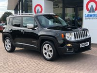 USED 2016 16 JEEP RENEGADE 1.6 M-JET LIMITED 5d 118 BHP 1 OWNER | SAT NAV | LEATHER |