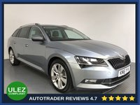 USED 2016 16 SKODA SUPERB 2.0 SE L EXECUTIVE TDI DSG 5d AUTO 188 BHP SKODA HISTORY - 1 OWNER - ULEZ OK - SAT NAV - LEATHER - REAR SENSORS - AIR CON - BLUETOOTH - DAB - CRUISE